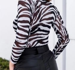 Body Tule zebra